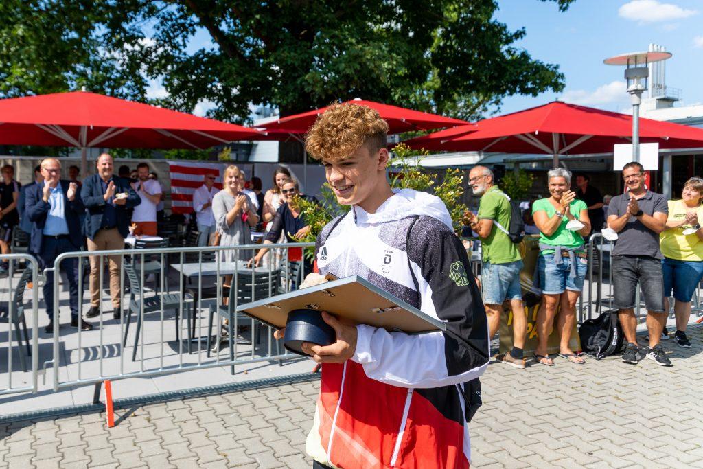 Empfang für Taliso Engel im Clubbad (Foto: DC-Fotografie.de).
